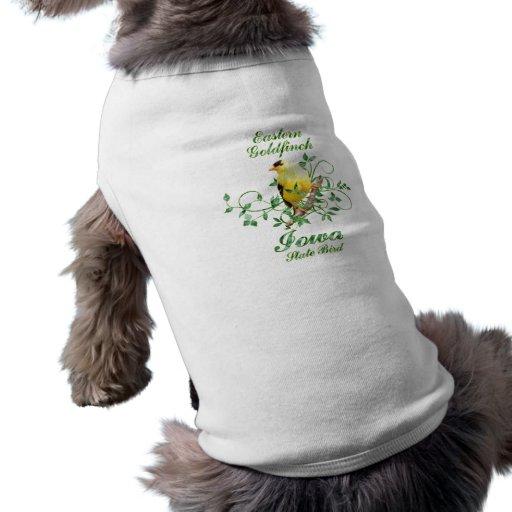 Goldfinch Iowa State Bird Doggie Tee Shirt