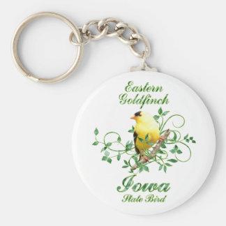Goldfinch Iowa State Bird Key Ring