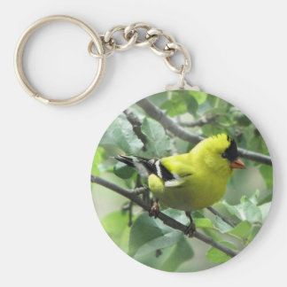 Goldfinch Keychain