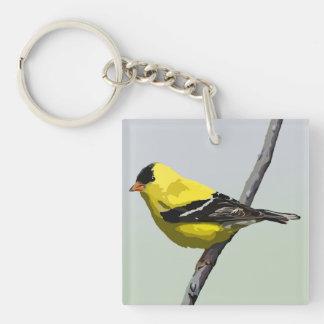 Goldfinch Keychain