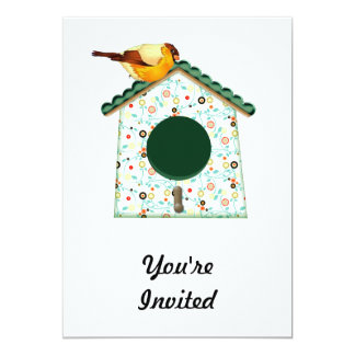 Goldfinch on Flower Calico House 5x7 Paper Invitation Card