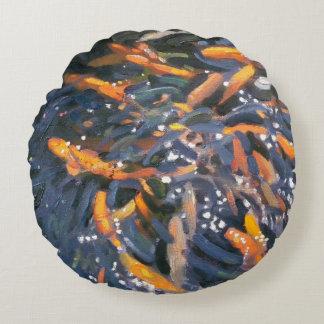 Goldfish 2010 round cushion