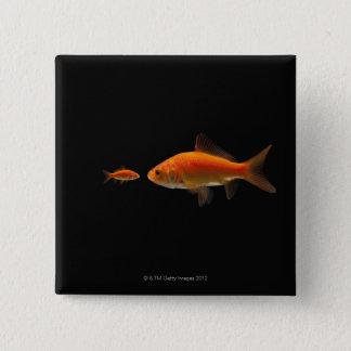 Goldfish 3 15 cm square badge