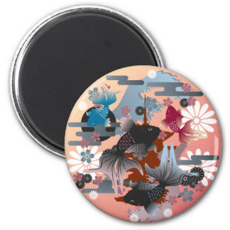 Goldfish 6 Cm Round Magnet
