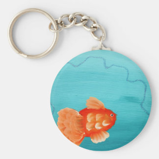 GOLDFISH A SWIMMING KEY RING
