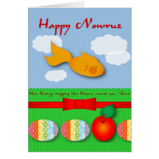 Goldfish and Rumi Quote Nowruz Card