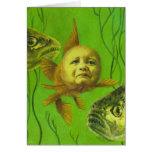 Goldfish Baby Mutant Design Greeting Card