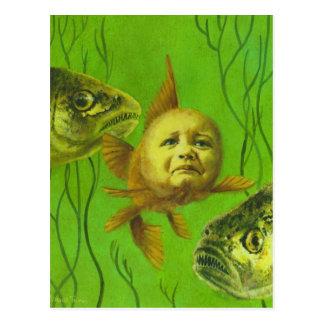 Goldfish Baby Mutant Design Postcard
