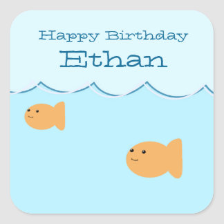 Goldfish Birthday Party Custom Stickers