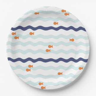 Goldfish Birthday Party Plates 9 Inch Paper Plate