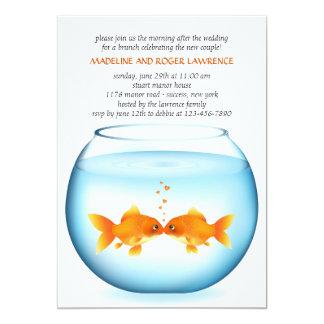 Goldfish Bowl Post Wedding Brunch Invitation