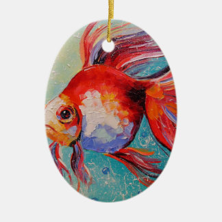 Goldfish Ceramic Oval Decoration