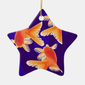 Goldfish Ceramic Star Decoration