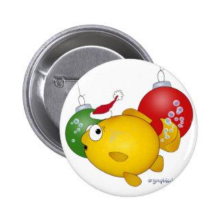 Goldfish Christmas flatus event! 6 Cm Round Badge