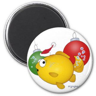 Goldfish Christmas flatus event! Magnet