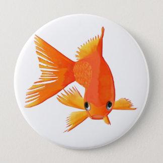 Goldfish Coming at You 10 Cm Round Badge