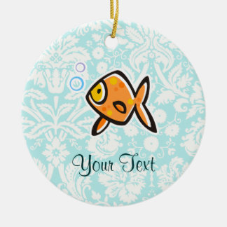 Goldfish; Cute Round Ceramic Decoration