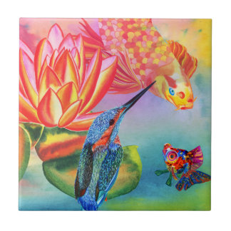 Goldfish design decorative tile