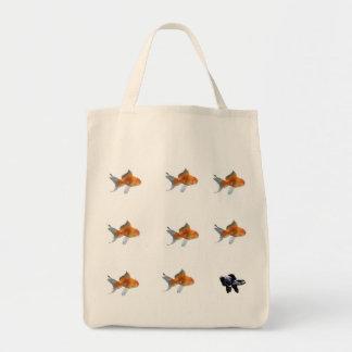 goldfish, goldfish, goldfish, goldfish, goldfis... tote bag