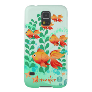 Goldfish in a turquoise ocean galaxy s5 covers