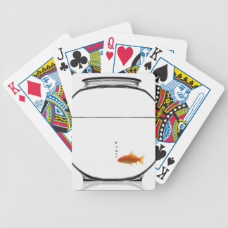 Goldfish in bowl bicycle playing cards