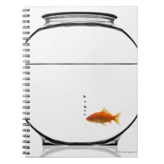Goldfish in bowl spiral notebook