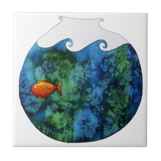 Goldfish in Bowl Tile
