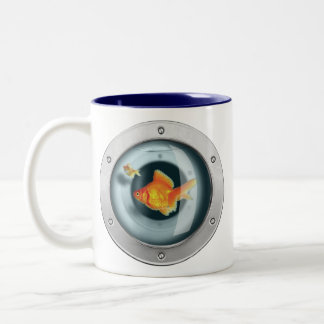 Goldfish in your Chest Two-Tone Mug