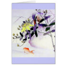 Goldfish Kingfisher Japanese print Card