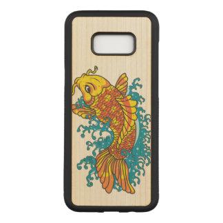Goldfish Koi Illustration Carved Samsung Galaxy S8+ Case