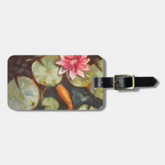 Goldfish Koi Pond Water Lilies Luggage Tag