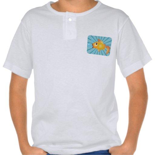 Goldfish On Blue Stripes Tees