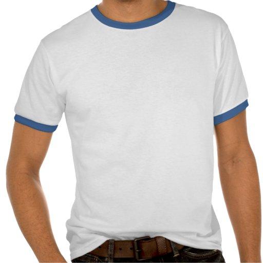 Goldfish On Blue Stripes Shirt