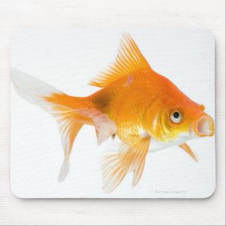 Goldfish on white background mouse mat
