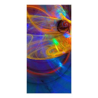 Goldfish Opera - Colorful Digital Abstract Art Personalised Photo Card