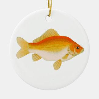 Goldfish Orange - Tangerine - Yellow Christmas Ornament