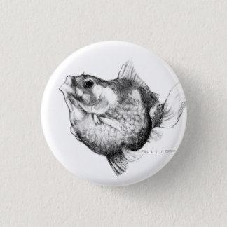 Goldfish ping pong pearl 3 cm round badge