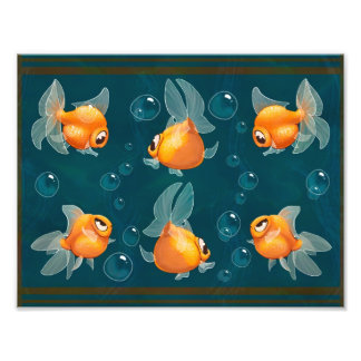 Goldfish print photographic print