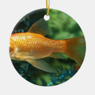 Goldfish Round Ceramic Decoration