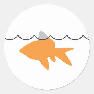 Goldfish Shark Sticker