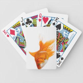 Goldfish, side view poker deck