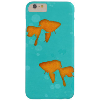Goldfish silhouettes turquoise water byEDrawings38 Barely There iPhone 6 Plus Case