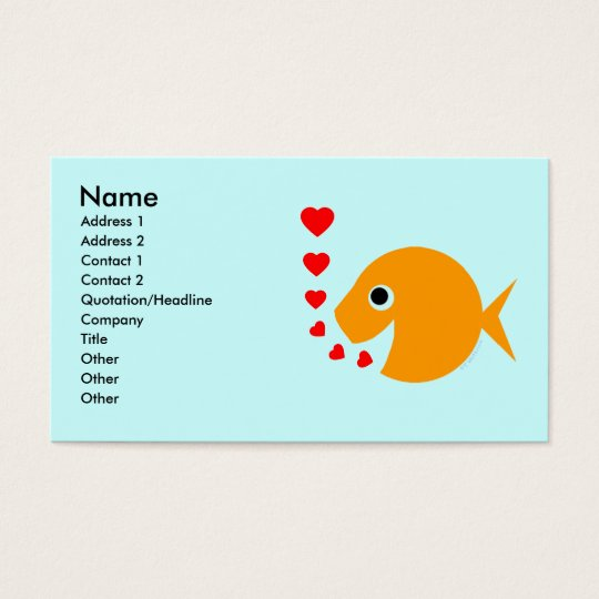 Goldfish Tropical Fish Breeder Pool Maintenance Business Card