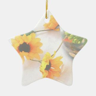Goldfish Wedding Centerpiece Flowers, Faded ver. Ceramic Star Decoration