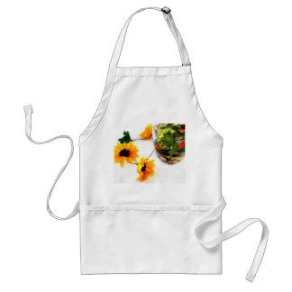 Goldfish wedding centerpiece sunflower photograph apron