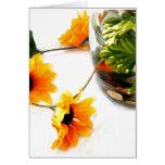 Goldfish wedding centerpiece sunflower photograph greeting cards