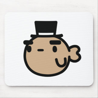 Goldfish With Top Hat Mouse Mat