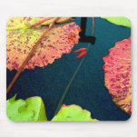 Goldfishes in waterlily pond mouse mats