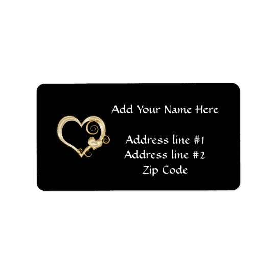 GoldHearts.png Address Label
