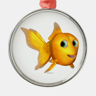 Goldie the Toon Goldfish Christmas Ornament